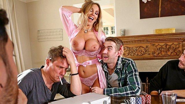 Смотреть Бесплатно Порно Муж проиграл в покер другу свою зрелую и ненасытную жену с большими титьками видео