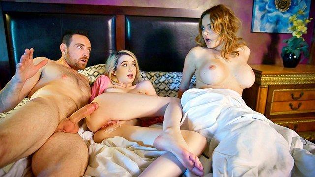 Смотреть Бесплатное Порно Отчим подсыпал жене снотворное, чтобы отъебать падчерицу и накончать ей на сладкую манденку видео